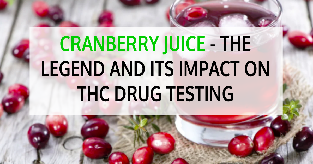 Cranberry juice for thc
