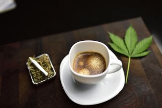 Coffee and weed together