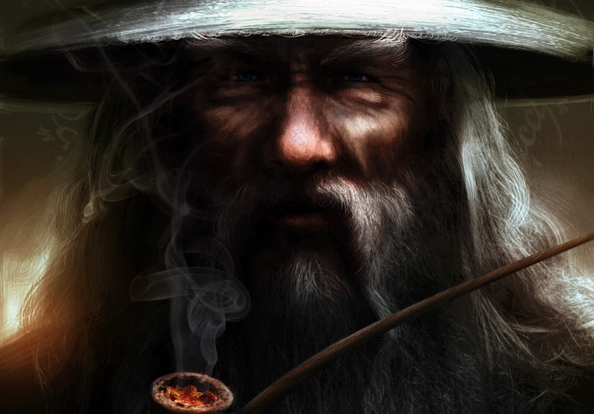 Gandalf smoke rings