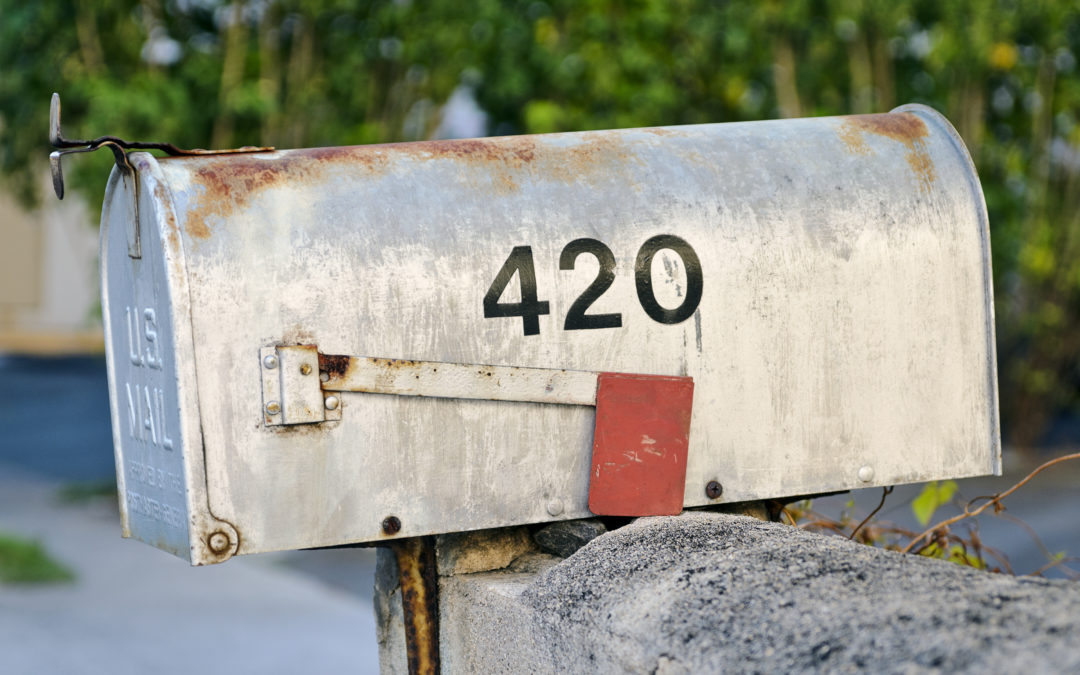 Weed through the mail