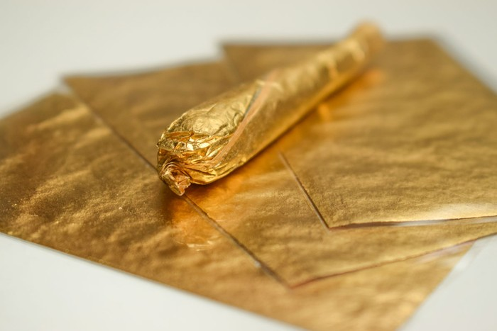 Gold wraps for weed