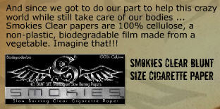 What are clear rolling papers made of