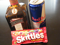 How to make a skittle bomb